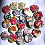 Upcycled hand embroidered  badges